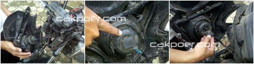 cakpoer - verza headlamp - copot konektor